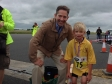 Jonathan congratulating Dominic on winning the 1k race at the Huntingdon 10k event on Sunday 15th June.
