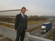 Jonathan Djanogly MP at the A14 in November 2011