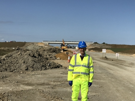 Jonathan on a recent visit with Highways England to see how well the A14 upgrade project is progressing.