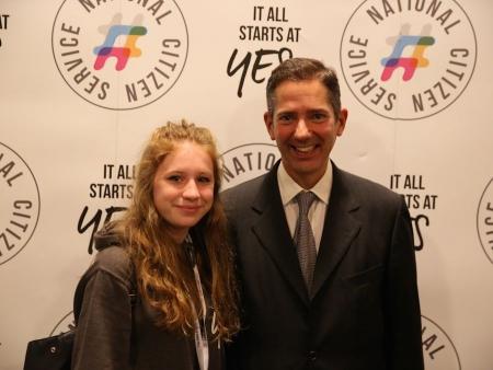 Jonathan Djanogly congratulates NCS National Ambassador Abigail Whitehead