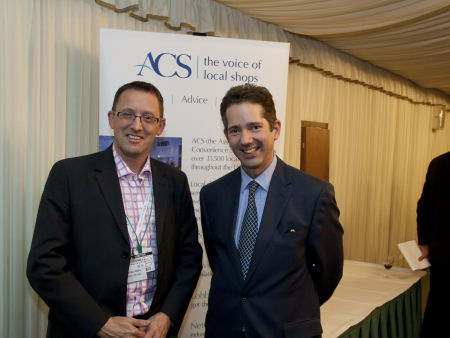 Jonathan Djanogly with Steve Male of Budgens, St Ives at the Association of Convenience Stores' Heart of the Community reception