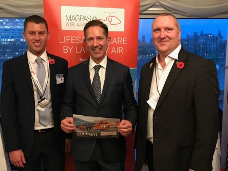 Jonathan supporting Magpas Air Ambulance at the APPG for Air Ambulances' Parliamentary Reception at the House of Commons.
