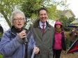 Jonathan Djanogly MP opens the Alconbury Village Fete with the Reverend Mary Jepp