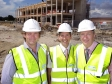 Jonathan Djanogly visits construction site of new Incubator building at Alconbury Weald
