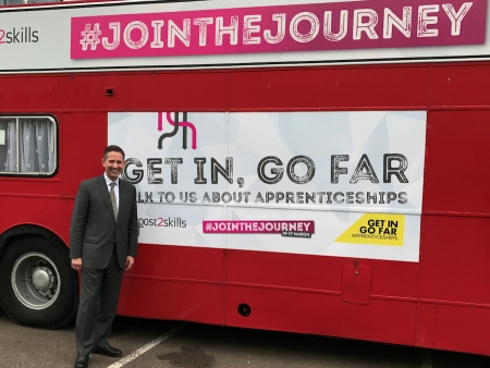 Jonathan Djanogly visits West Anglia Training Association in Huntingdon to mark National Apprenticeship Week