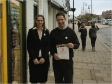 Jonathan Djanogly with Lisa White, store manager of Barnardo's ini St Ives on Make A Difference Day