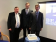 Jonathan Djanogly MP attending the relaunch of Kimbolton company Beacon Wealth Management