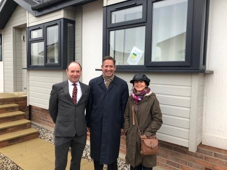 Jonathan Djanogly MP visits Berkeley Parks' site in St Ives
