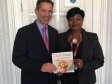 Jonathan Djanogly MP and Cambridge Weight Plan Consultant, Bibian Green