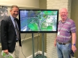 Jonathan with Cllr Ian Bates at the Black Cat/A428 consultation which is open until 28 July.