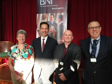 Jonathan Djanogly attending the 15th anniversary of Huntingdon's BNI business networking group.