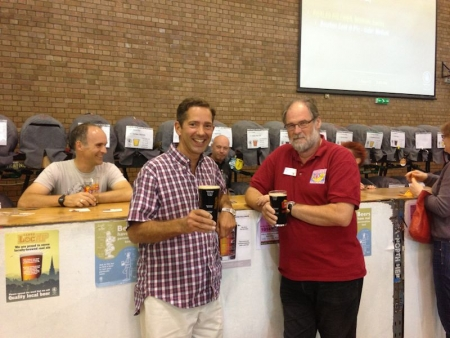 Jonathan Djanogly at the St Ives 'Booze on the Ouse' beer festival