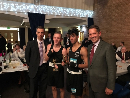 Jonathan at the Cambridgeshire Police annual boxing show organised in conjunction with Huntingdon Cromwell Rotary Club.