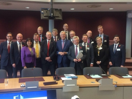 Jonathan visiting Brussels with the Brexit Select Committee to meet Mr Barnier to discuss the progress of negotiations.