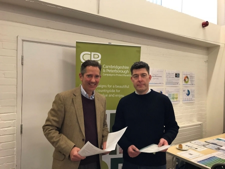 Jonathan attending Buckden Parish Council's great climate change and recycling event at Buckden Village Hall.
