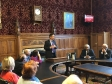 Jonathan welcoming representatives of the Cambridgeshire and Bedfordshire Federation of Small Businesses to Parliament.