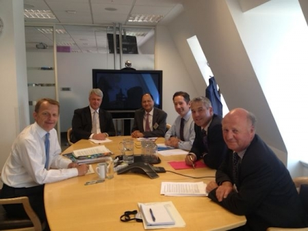 Jonathan Djanogly with other Cambs MPs at the Department for Education