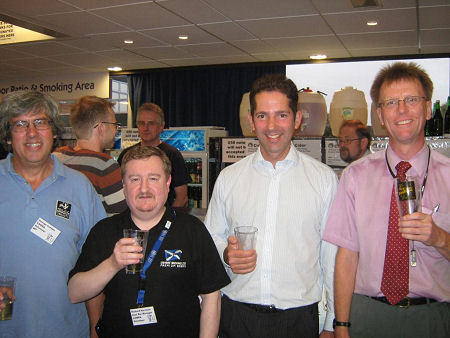 With members of Huntingdonshire CAMRA branch