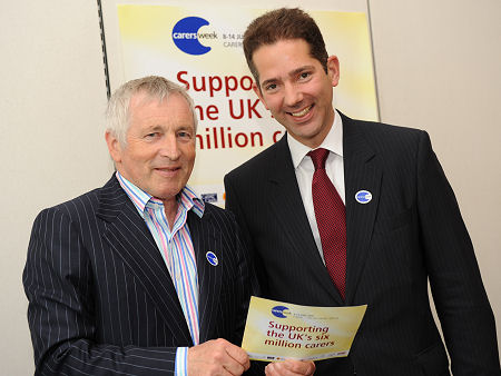 With Jonathan Dimbleby supporting Carers Week