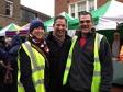 Jonathan Djanogly at Huntingdon's Christmas lights switch on event with Natasha and Roy from Huntingdon Town Council.