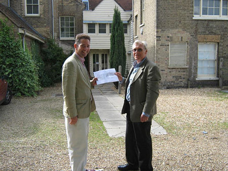 With Cllr Barry Chapman on the proposed cinema site in St Neots