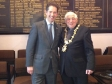 Jonathan Djanogly with the Mayor of Huntingdon Cllr Colin Hyams at the official reopening of the newly refurbished Town Hall