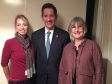 Jonathan Djanogly meeting with Ginny and Suzanne from Huntingdonshire's Community Cancer Network.