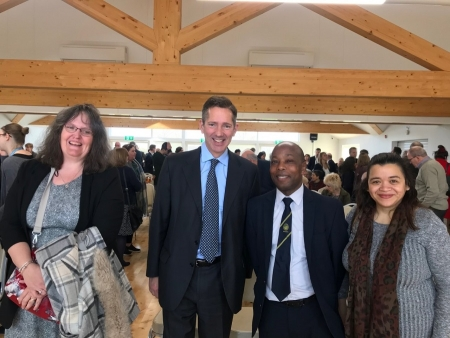Jonathan Djanogly MP attends the official opening of the new Coneygear Community Centre in Huntingdon.
