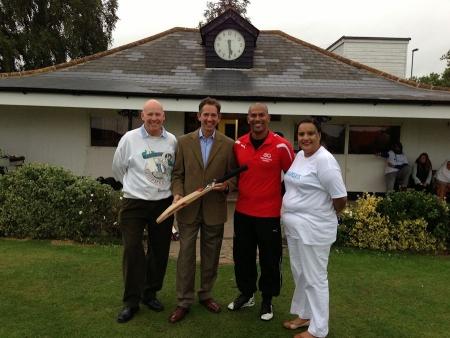 Jonathan Djanogly supports Huntingdon Cricket Club's charity day.