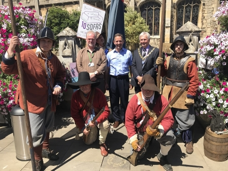 Jonathan officially opening the first Huntingdon History Festival,