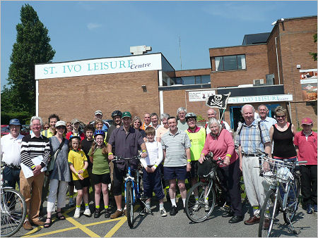 Jonathan Djanogly taking part in Cycle Sunday in St Ives and the Hemingfords