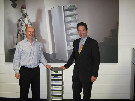 Jonathan Djanogly MP visiting Cyrus Audio in Huntingdon to discuss innovative developments in the audio industry