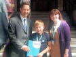 Jonathan Djanogly meets Susan Walls and her son at the House of Commons on 5th June, during the Children's lobby for better care