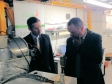 Jonathan visiting EOGB Energy Products in St Neots