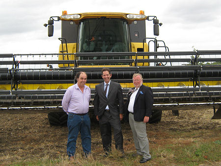 With farmer, Trevor Smith and Malcolm Lyons, a local grain merchant and chairman of the Federation of Small Businesses