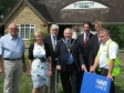 Jonathan Djanogly MP at the official launch of the Alconbury and Alconbury Weston Flood Mitigation Scheme.