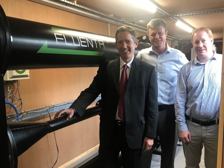 Jonathan Djanogly visiting Fluenta Solutions at their new offices in Abbotsley