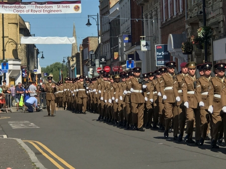 Presentation of the freedom of St Ives to the Corps of Royal Engineers