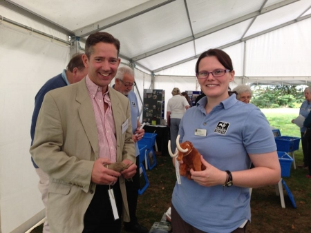 Jonathan Djanogly attending the opening of Godmanchester's new nature reserve.