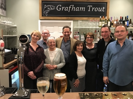 Jonathan Djanogly MP at the opening of the Grafham Trout.
