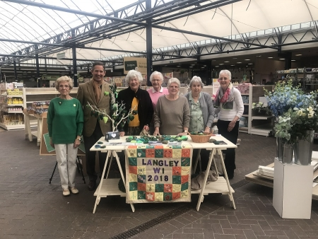Jonathan supporting the Hemingford Grey Langley WI's green hearts campaign in support of a better environment.