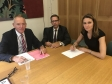 Jonathan Djanogly and Lucy Frazer meet Patrick Verwer CEO of Govia Thameslink