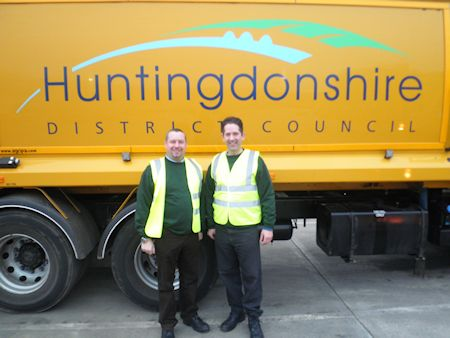 Refuse workers in Huntingdonshire have been praised by Jonathan Djanogly MP after he spent the day on a local bin round