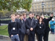Students from Hinchingbrooke School visiting the Houses of Parliament