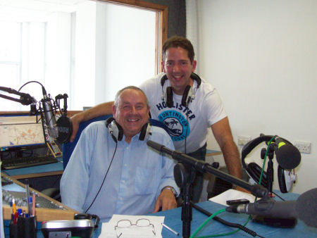 Jonathan Djanogly MP on a recent visit to Huntingdon Community Radio with County Matters presenter Bill Hensley