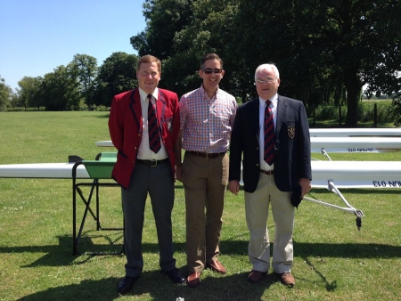 Jonathan taking part in an event to name the new boats at Huntingdon Rowing Club