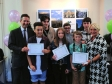Jonathan Djanogly awarding prizes and certificates to the category winners of the Hunts Post's photograph competition with spons
