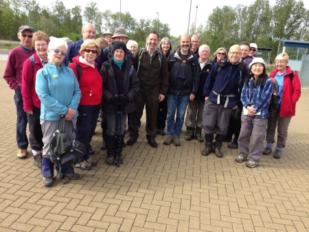 Jonathan Djanogly with the Hunts Ramblers