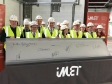 Jonathan at the topping-out ceremony of the iMET building at Alconbury Enterprise Zone.