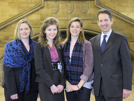 Jonathan Djanogly meets students, including constituent Danielle Belbin, on International Womens Day at the Houses of Parliament